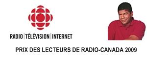 Prix des lecteurs de Radio-Canada, 2009