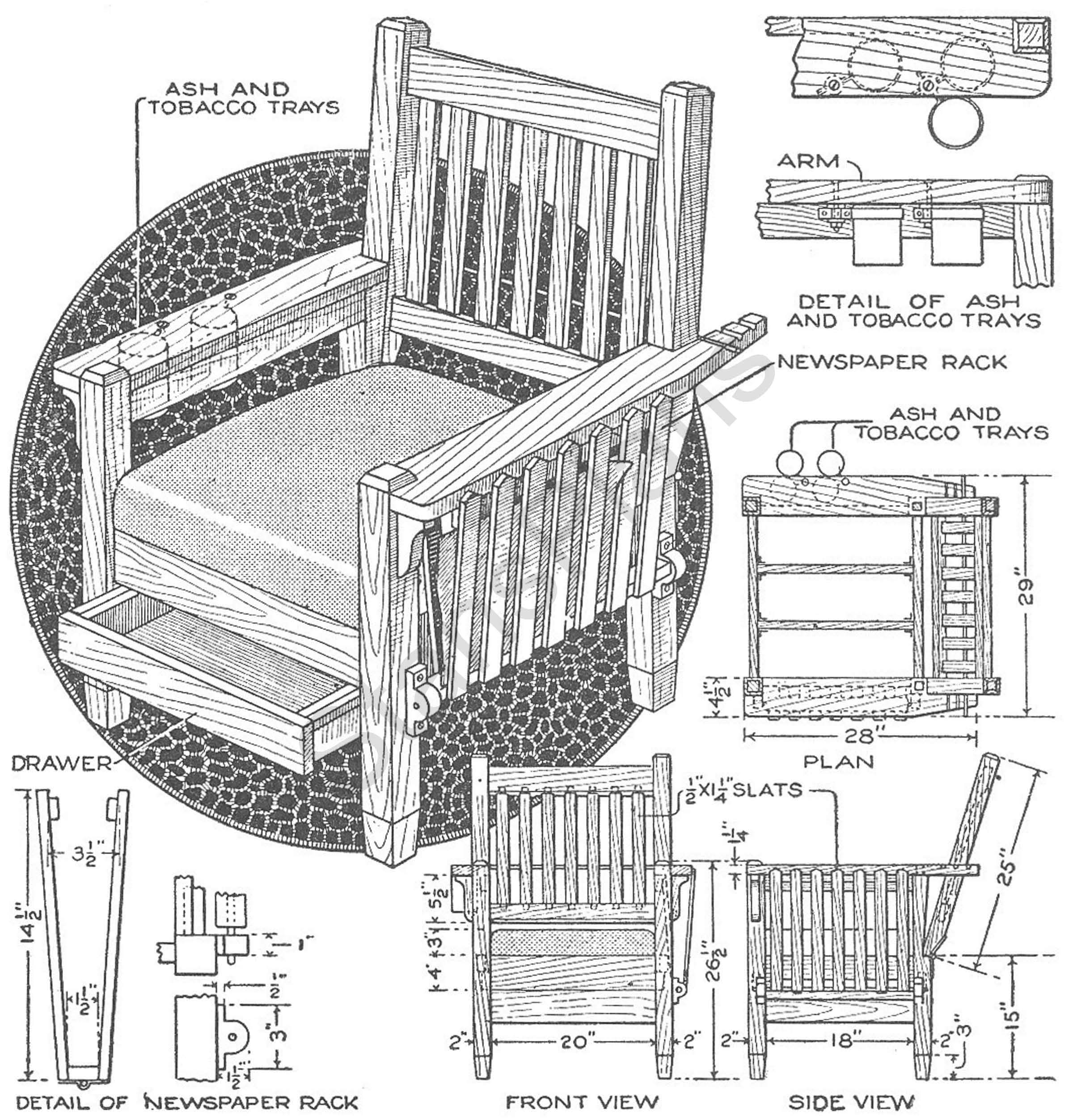 plans for a chair