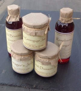 Jam's, jellies and vinegars from The Hedgerow Apothecary in West Ashling.