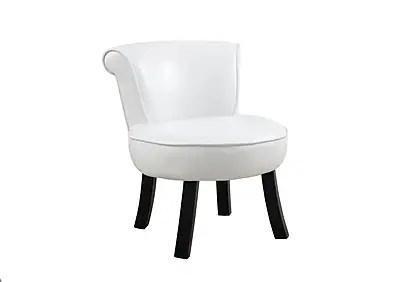monarch chaise d appoint 8155 pour jeune similicuir blanc