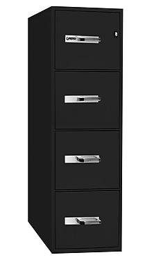 gardex classeur classique ignifuge a 4 tiroirs vertical legal noir 54