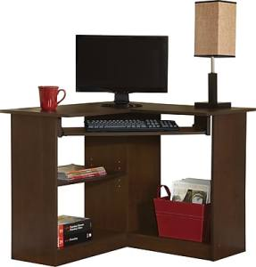 Corner Desks   L Desk   Computer Corner L Desk   Staples     Easy2Go Corner Computer Desk  Resort Cherry