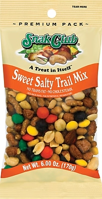 Snak Club Sweet Amp Salty Trail Mix 6 Oz 6Box Staples