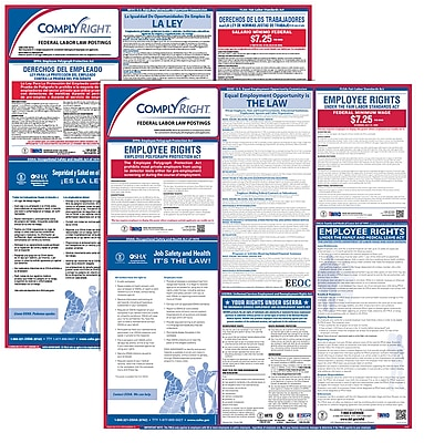 complyright federal labor law poster bilingual erfedb
