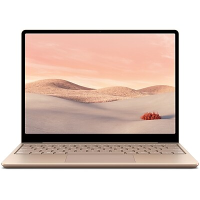 microsoft surface laptop go 12 4 touch screen intel i5 1035g1 8gb memory 128gb ssd windows 10 home sandstone thh 00035