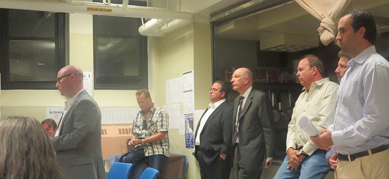 Greg Brayman explains the workings of Red Hook Containerport LLC to Community Board 6