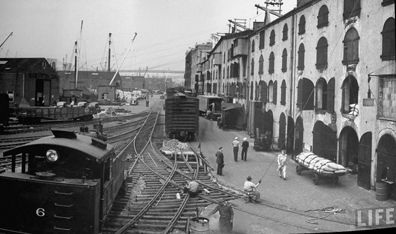 The Sunset Park Industrial zone, back in the day.