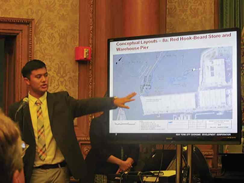 EDC representative explaining their ferry ideas