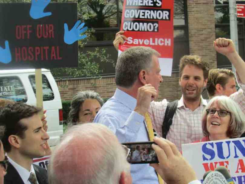Bill and others out in front of LICH in 2013, rallying to prevent it's closure.