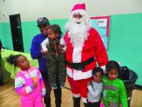 Santa makes an appearance at the Miccio Center.