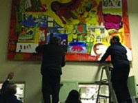 Carroll Gardens library gets a homegrown mural, by Halley Bondy
