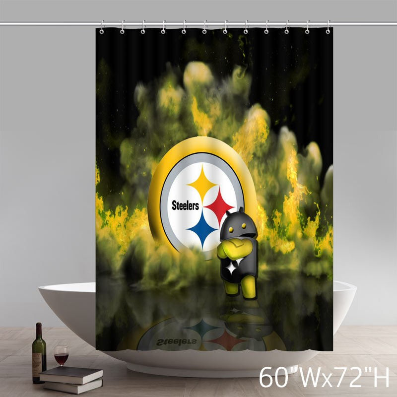 symbol cute pittsburgh steelers shower curtains star unique shower curtains