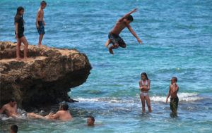 STAR-ADVERTISER FILE / SEPT. 2014                                 Kids cooled off by jumping into tidepools at Nanakuli Beach Park. A stretch of Nanakuli shoreline is scheduled for a one-month closure, starting Friday, for maintenance, according to the Honolulu Department of Parks and Recreation.