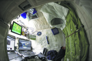 NASA VIA NEW YORK TIMES American astronaut Scott Kelly's personal living quarters on the International Space Station is seen in April 2015.