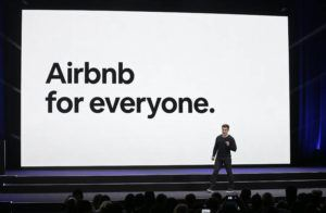 ASSOCIATED PRESS                                 Airbnb co-founder and CEO Brian Chesky spoke, in Feb. 2018, during an event in San Francisco. Airbnb says it will spend the next year verifying all 7 million of its listings as it works to improve user trust.