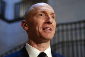 ASSOCIATED PRESS                                 Carter Page, a foreign policy adviser to Donald Trump's 2016 presidential campaign, spoke with reporters, in Nov. 2017, following a day of questions from the House Intelligence Committee, on Capitol Hill in Washington. An FBI lawyer is suspected of altering a document related to surveillance of the former Trump campaign adviser, a person familiar with the situation said today.