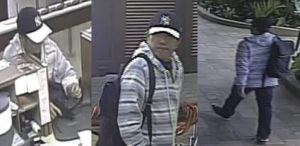 COURTESY CRIMESTOPPERS                                 Have you seen this man? Police need help finding and identifying the armed suspect who robbed the First Hawaiian Bank in Kapahulu today.