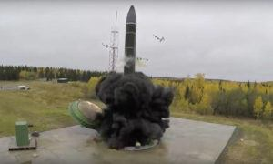 RUSSIAN DEFENSE MINISTRY PRESS SERVICE VIA ASSOCIATED PRESS                                 An intercontinental ballistic missile lifted off from a silo somewhere in Russia. The Russian military said the Avangard hypersonic weapon entered combat duty today.