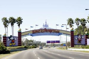 ASSOCIATED PRESS Cars travelled one of the roads leading to Walt Disney World, in Jan. 2017, in Lake Buena Vista, Fla. Walt Disney World employees who portray Mickey Mouse, Minnie Mouse and Donald Duck each filed police reports this month, claiming they were inappropriately touched by tourists.