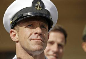 "ASSOCIATED PRESS                                 Navy Special Operations Chief Edward Gallagher left a military court, July 2, on Naval Base San Diego. Navy SEALs described their platoon leader, retired Special Operations Chief Gallagher, as ""evil,"" ""toxic"" and ""perfectly OK with killing anybody that was moving,"" in video footage obtained by The New York Times."