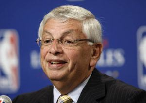 ASSOCIATED PRESS / JUNE 2009                                 NBA Commissioner David Stern announced Los Angeles will be the site of the 2011 NBA All-Star basketball game, at a news conference, in Los Angeles. Stern, who spent 30 years as the NBA's longest-serving commissioner and oversaw its growth into a global power, died on New Year's Day. He was 77.