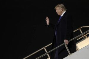 ASSOCIATED PRESS President Donald Trump arrives at General Mitchell International Airport for a campaign rally today in Milwaukee.