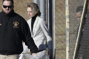 ASSOCIATED PRESS                                 Michelle Carter left the Bristol County jail, today, in Dartmouth, Mass., after serving most of a 15-month manslaughter sentence for urging her suicidal boyfriend to kill himself in 2014. The 23-year-old, released three months early for good behavior, will serve five years of probation.