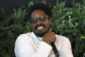 INVISION/AP                                 Rohan Marley participates in the Q&A panel at the Marley Brunch with Marley Family Members at the 1 Hotel West Hollywood today.