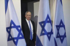 ASSOCIATED PRESS                                 Blue and White party leader Benny Gantz arrives to address media in Tel Aviv, Israel, on Nov. 20.