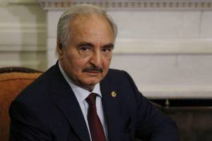 ASSOCIATED PRESS                                 Libyan Gen. Khalifa Hifter joins a meeting with the Greek Foreign Minister Nikos Dendias in Athens on Jan. 17. The commander of anti-government forces in war-torn Libya has begun meetings in Athens in a bid to counter Turkey's support for his opponents.