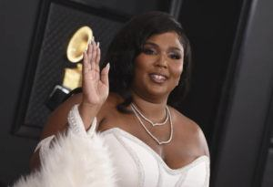 INVISION/AP                                 Lizzo arrives at the 62nd annual Grammy Awards at the Staples Center today.