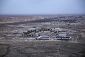 ASSOCIATED PRESS / DEC. 29                                 A photo taken from a helicopter shows Ain al-Asad air base in the western Anbar desert, Iraq.