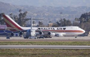 ASSOCIATED PRESS                                 An airplane carrying U.S. citizens being evacuated from Wuhan, China, lands at March Air Reserve Base in Riverside, Calif., on Wednesday.