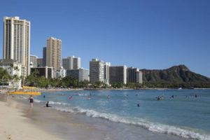STAR-ADVERTISER / NOV. 2019                                 The view of Waikiki and Diamond Head from Waikiki Beach. Visitors to Hawaii went over the 10 million benchmark, but spending growth in 2019 didn't keep up with the pace of arrivals growth, according to statistics released today by the Hawaii Tourism Authority.