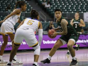 JAMM AQUINO / JAN. 16                                 Julissa Tago led the Wahine with 15 points in their victory at UC Riverside on Saturday.