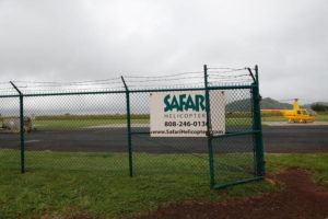 JAMM AQUINO / JAQUINO@STARADVERTISER.COM                                 The helipad for Safari Helicopters sat empty, Dec. 28, in Lihue. An FAA whistleblower reportedly claimed his bosses prevented him from conducting aircraft inspections at Safari Helicopters in Kauai prior to a December 2019 crash that killed seven people onboard.