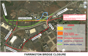 COURTESY HAWAII DEPARTMENT OF TRANSPORTATION                                 Map of Farrington Bridge closure and detours.