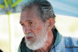 BRUCE ASATO / JULY 18, 2019                                 Walter Ritte is seen at Pu'uhonua O Pu'u Huluhulu. Ritte says he is running for the state House to represent Lanai, Molokai, Paia and Hana.