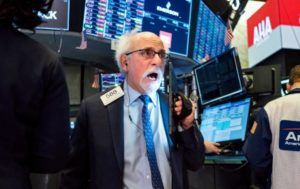 ASSOCIATED PRESS                                 Trader Peter Tuchman worked on the floor of the New York Stock Exchange, today.