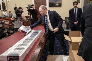 ASSOCIATED PRESS                                 President Donald Trump's budget request for fiscal year 2021 arrived, today, at the House Budget Committee on Capitol Hill in Washington.