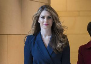ASSOCIATED PRESS / Feb. 27, 2018                                 Then-White House Communications Director Hope Hicks arrives to meet behind closed doors with the House Intelligence Committee, at the Capitol in Washington in 2018. Hicks, one of President Donald Trump's most trusted and longest-serving aides, is returning to the White House, where she will be serving as counselor to the president, working with presidential son-in-law and senior adviser Jared Kushner.
