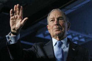 ASSOCIATED PRESS                                 Democratic presidential candidate and former New York City Mayor Mike Bloomberg waved after speaking at a campaign event, Thursday, in Salt Lake City.