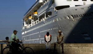 ASSOCIATED PRESS / 2008 The Fred Olson Cruise Liner Braemar is docked at the port in Havana, Cuba. The Dominican Republic turned back the Braemar because some on board showed potential symptoms of the new coronavirus COVID-19.