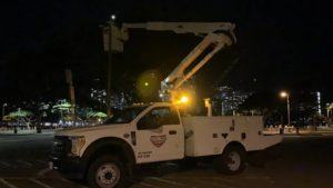 COURTESY HONOLULU DEPARTMENT OF PARKS AND RECREATION                                 City officials said lights at Ala Moana Regional Park will be converted to LEDs, resulting in about $80,000 annually in cost savings.