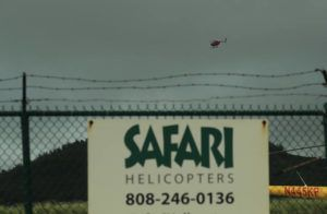 JAMM AQUINO/JAQUINO@STARADVERTISER.COM A helicopter takes flight above the Lihue Helipad on Dec. 28, 2019 in Lihue, Kauai. The pilot in the fatal December crash of a Kauai sightseeing helicopter previously lost his professional license for a year because of drug use, officials said.