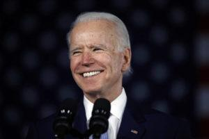 ASSOCIATED PRESS Democratic presidential candidate former Vice President Joe Biden spoke at a primary night election rally, Saturday, in Columbia, S.C.