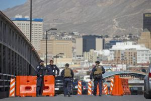 ASSOCIATED PRESS / FEB. 16                                 U.S. Customs and Border Protection officers of the Special Response Team unit, patrol on the Paso del Norte Port of Entry in El Paso, Texas. The U.S. government says it's sending 160 military police and engineers to two official border crossings to deal with asylum seekers in case a federal appeals court strikes down one of the Trump administration's key policies. Senior Customs and Border Protections officials said Friday, March 6, 2020, that active duty personnel will be in place at ports of entry in El Paso and San Diego this weekend.