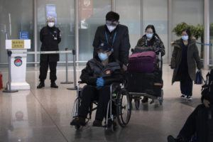 ASSOCIATED PRESS                                 Travelers left the international arrival exit, March 12, at the Capital International Airport terminal 3 in Beijing. As the number of new cases dwindles in China and multiplies abroad, the country once feared as the source of the COVID-19 outbreak is now worried about importing cases from abroad.