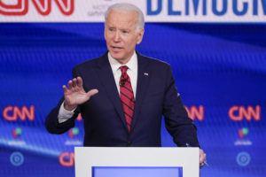 ASSOCIATED PRESS Former Vice President Joe Biden, participates in a Democratic presidential primary debate at CNN Studios in Washington.