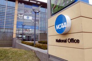 ASSOCIATED PRESS                                 The national office of the NCAA in Indianapolis is shown. The NCAA canceled the men's and women's Division I basketball tournaments amid coronavirus fears.